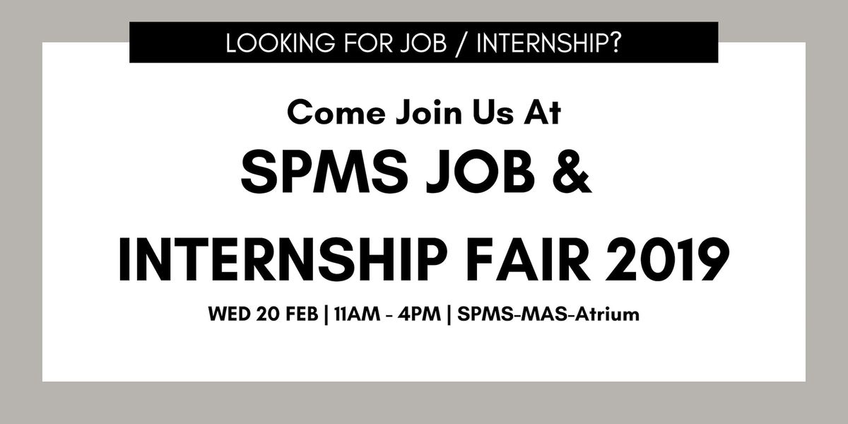 SPMS Job and Internship Fair 2019