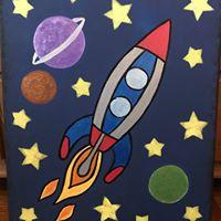 Kids Paint Class - &quotRocket Ship&quot