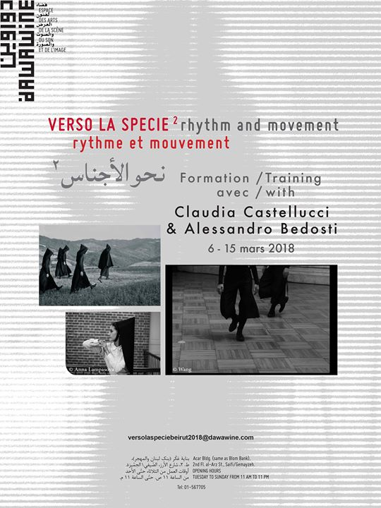 Verso la Specie 2 Beirut - training with Claudia Castellucci