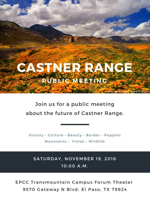 Castner Range Public Meeting At El Paso Community College Forum
