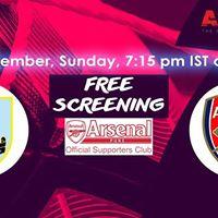 APSC Screening Burnley v Arsenal