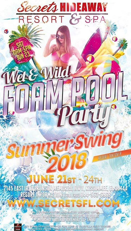 Wet and wild pool party