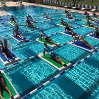 Paddleboard Yoga at Brimhall Pool