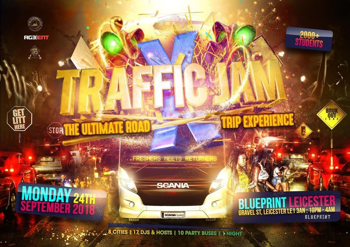 Traffic jam x the ultimate road trip rave at blueprint leicester traffic jam x the ultimate road trip rave malvernweather Gallery