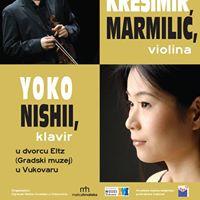Koncert u GMV - Kreimir Marmili violina i Yoko Nishii klavir