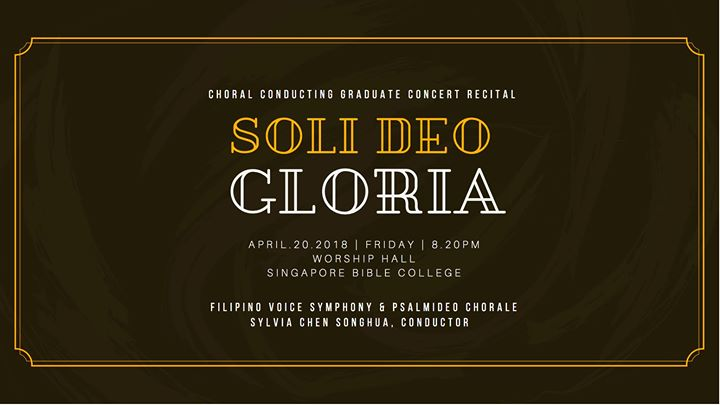 SoliDeoGloria - Choral Conducting Graduate Concert Recital