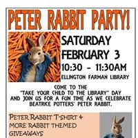 Peter Rabbit Party at the LIbrary
