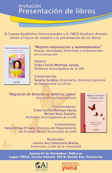Presentacion De Libros Mujeres Empresarias Y Migracion De Retor At - Uas-frances