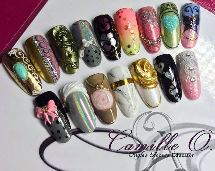 Formation Nail Art 3d Chrome Art Gel Ongles Access At Camilleo