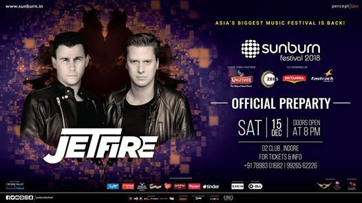 Sunburn Official PreParty with Jetfire - Indore