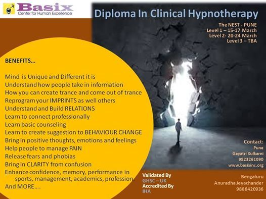 Clinical hypnotherapy Diploma Level 1