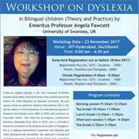 Workshop on Dyslexia by Prof. Angela Fawcett