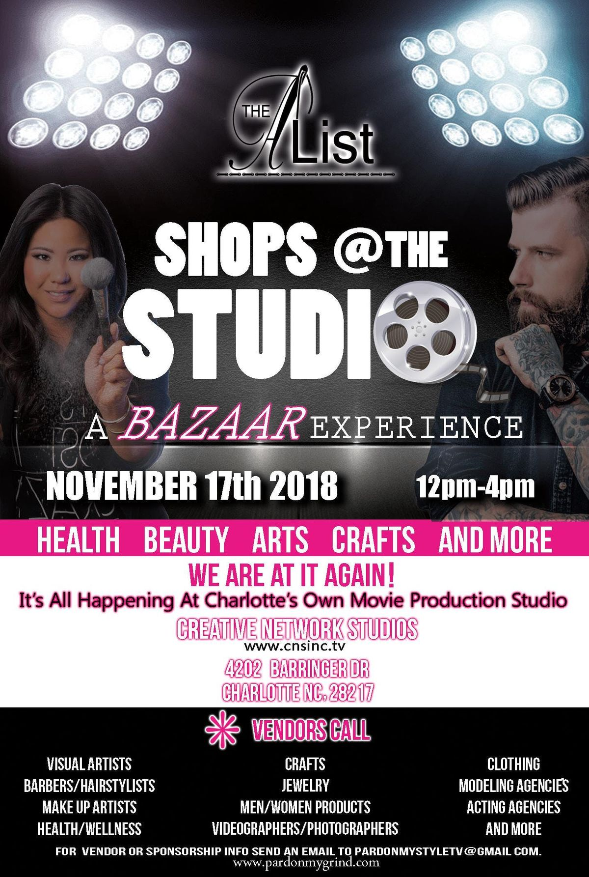 The A~List LIVE: Shops At The Studio at Creative Network