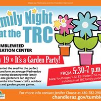 Family Night at the TRC  Garden Party