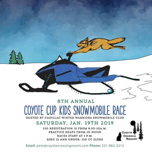 Coyote Cup Kids Snowmobile Race at Coyote Crossing