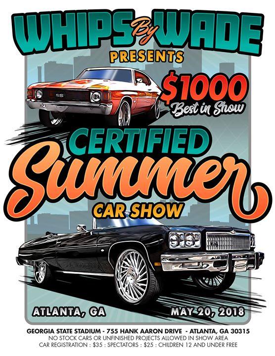 Whips By Wade CertifiedSummer Car Show At Turner Field Atlanta - Car show atlanta ga
