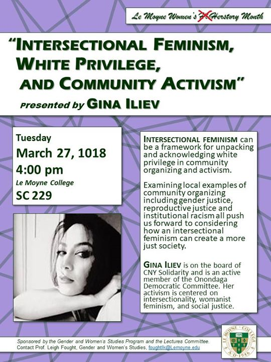 intersectional feminism white privilege and community activism at