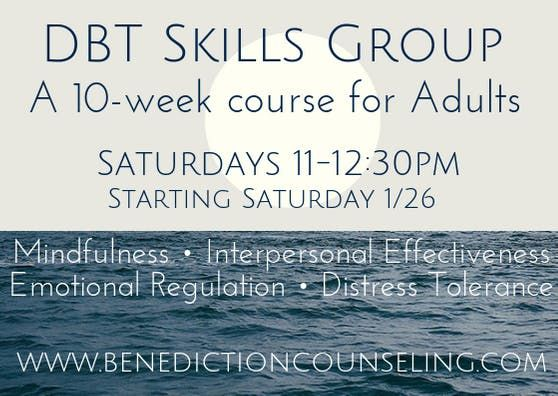 Adult DBT Group  Benediction Counseling