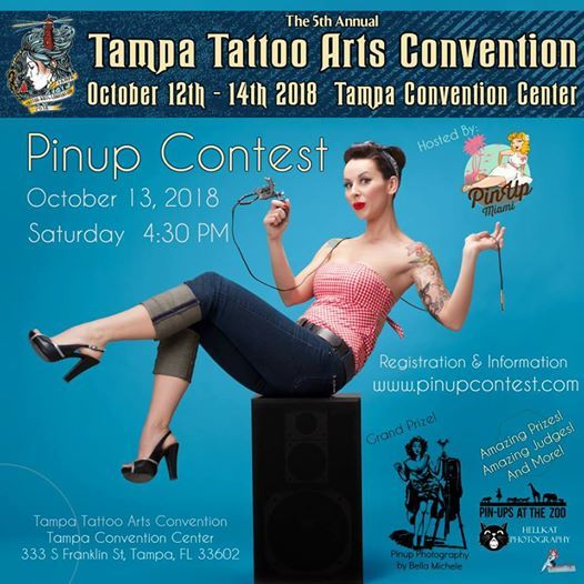 Pinup Contest at the Tampa Tattoo Convention 2018 | Florida