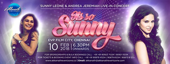 Sunny Leone & Andrea Jeremiah Live in Concert