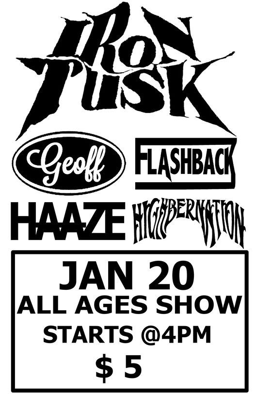 All ages show Flashback Iron Tusk Geoff & more