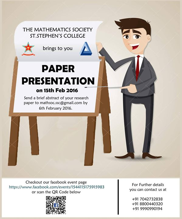 paper presentation in colleges How to make paper presentations making paper presentations involves  communicating information from a writer to reader paper.