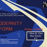 Modernity and Form. Fourth Session