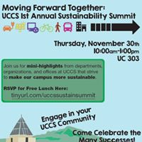 UCCS Sustainability Summit Moving Forward Together