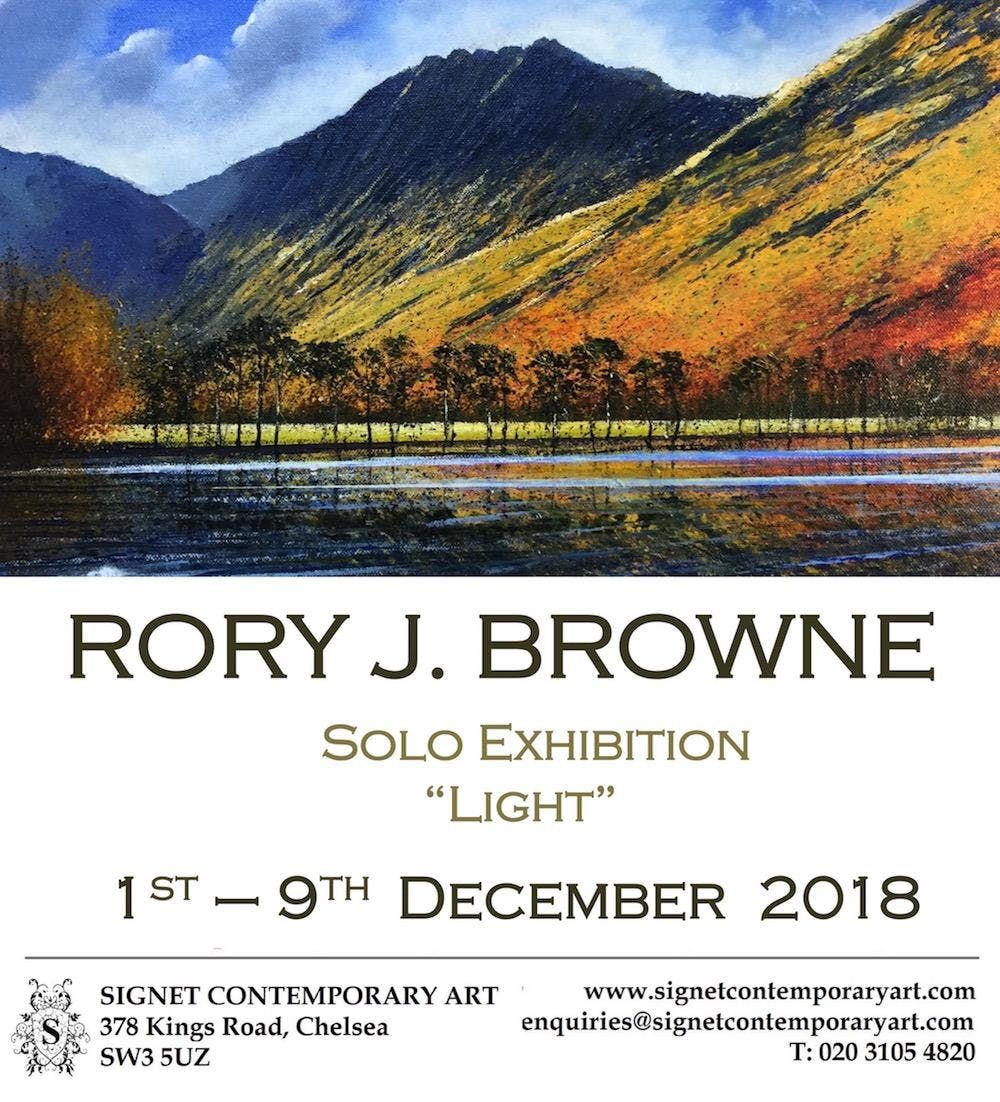 Rory J Browne Light Solo exhibition