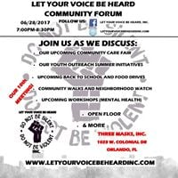 Let Your Voice Be Heard Community Forum (10th Meeting) 062817