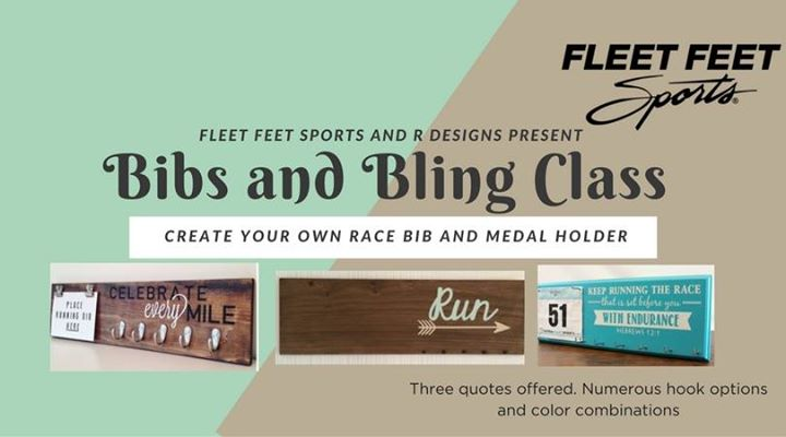 bibs and bling class create your own race bib and medal holder at