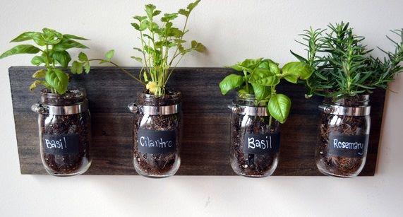 Captivating Hanging Mason Jar Herb Garden