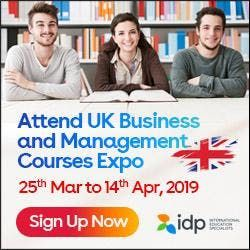 IDPs UK Business and Management Courses Expo in Chennai