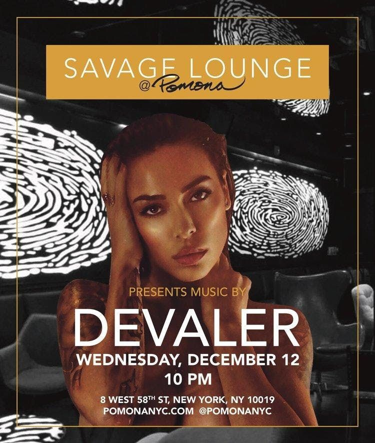Ladies Free at Savage Lounge in the Pomona Resturant