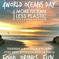Free Blue Drinks Happy Hour with 5 Gyres