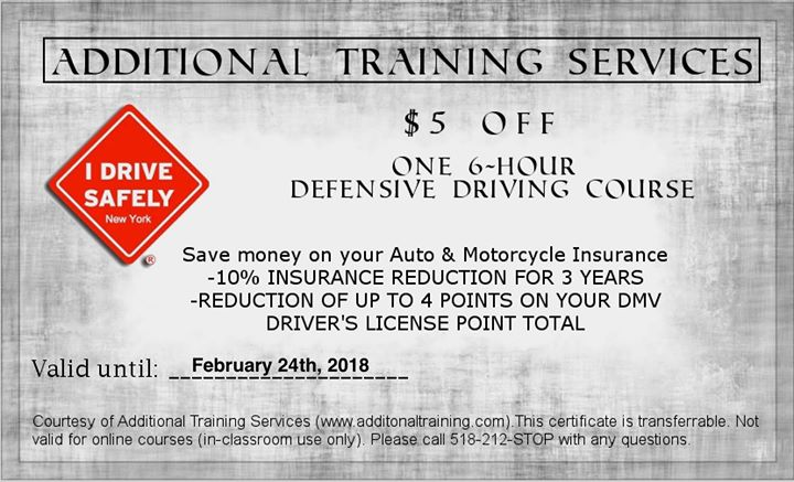 $29.00 Defensive Driving Course in Saranac at Saranac Town Hall, Saranac