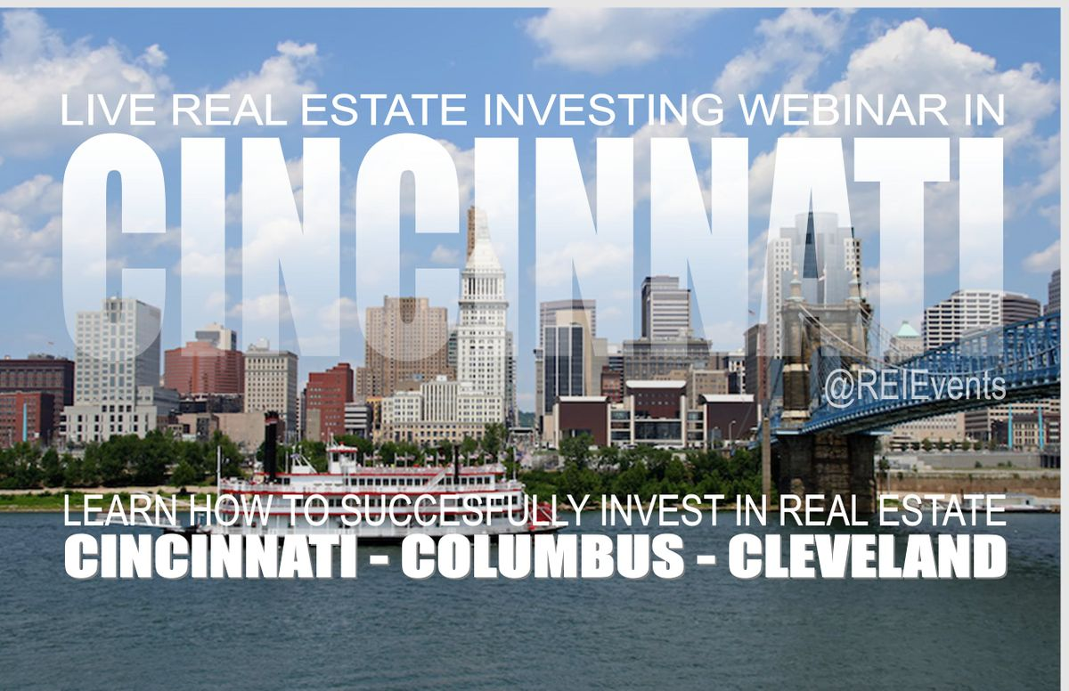 Fix and Flip Houses for Profit Live Orientation  Cincinnati OH - Webinar