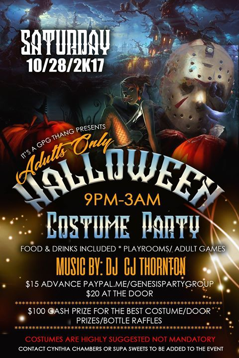 adults only halloween costume party