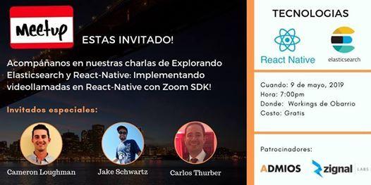 Hablemos de Elasticsearch y de React Native at Admios, Panama City