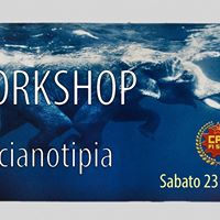 Cianotipia workshop in camera oscura al CPA FiSud