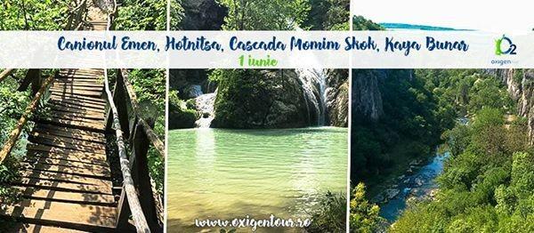Canionul Emen Hotnitsa Cascada Momim Skok Kaya Bunar