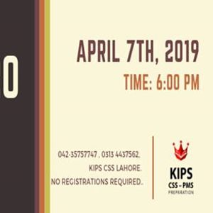 7th April 2019 Events in Lahore