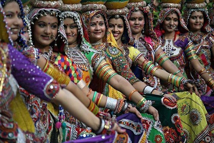 Yoga Festivals and Folk Art in Colorful Gujarat India