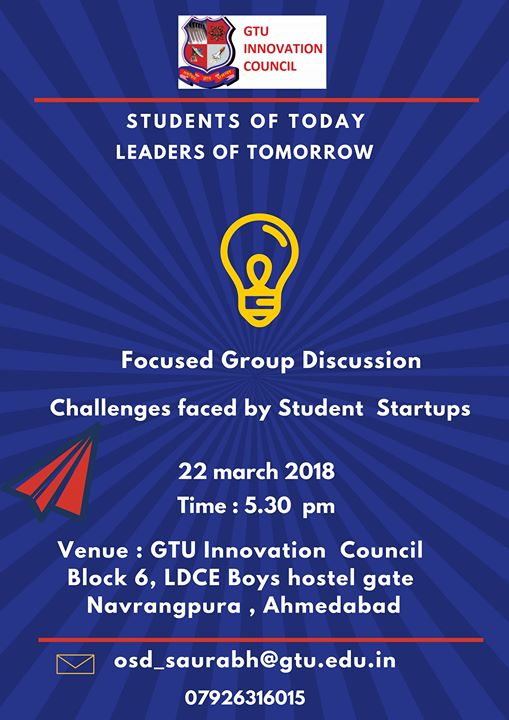Focused Group Discussion On Challanges Faced By Student Startups