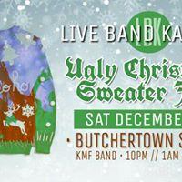 Live Band Karaoke  KMF BAND  Ugly Christmas Sweater Jam