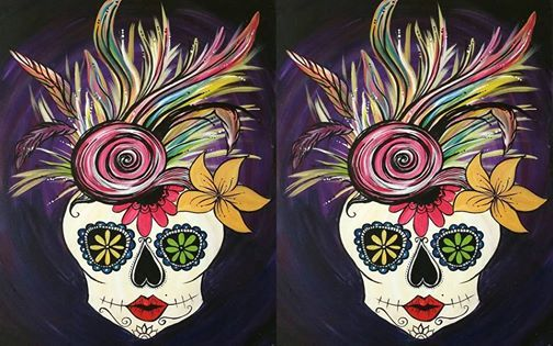 Sugar Scull Paint Night At Painting With A Twist Lake Charles La