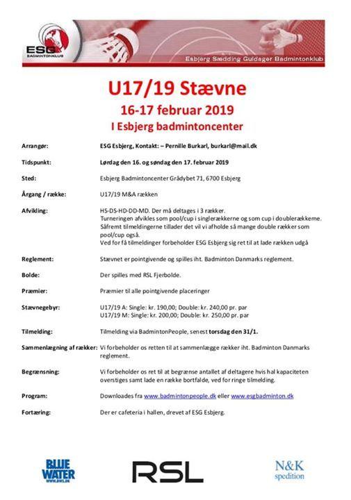 U1719 MA-stvne i Esbjerg