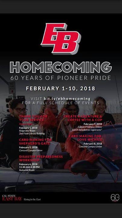 Csueb Concord Campus Map.Homecoming At Csueb Concord Campus Feb 1st 10th Concord