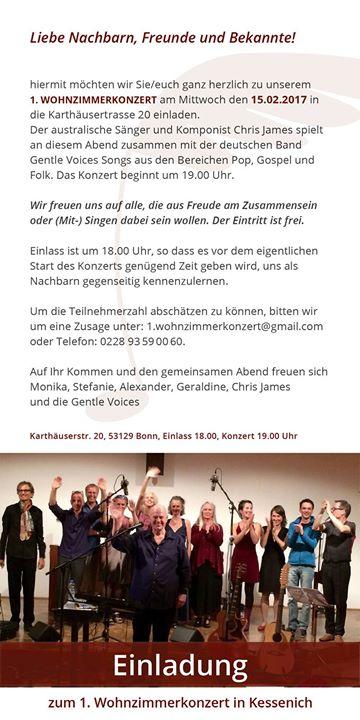 1 Wohnzimmerkonzert In Bonn Kessenich At Karthuserstrasse 20