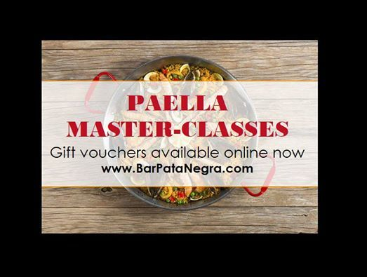 Paella Master Class with dinner tasty tapas & a welcome drink